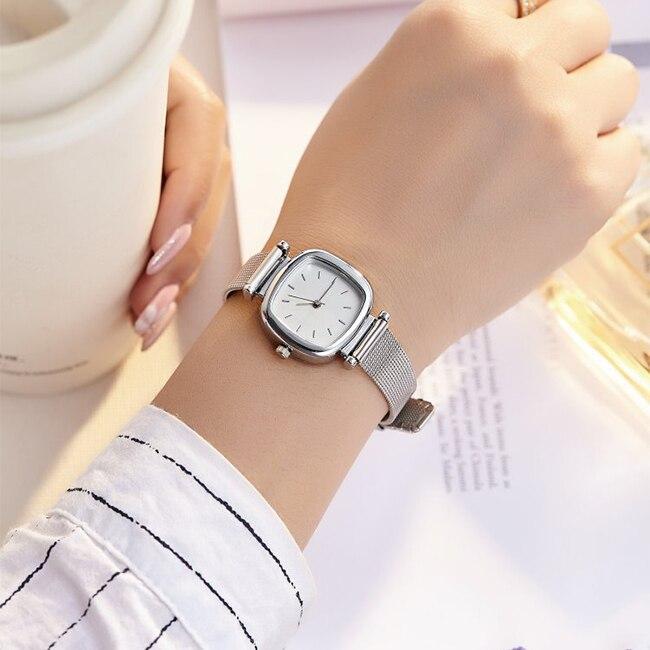 Square Small Dial Reloj Mujer Luxury Brand Women Dress Watch Stainless Steel Ladies Quartz Watches Female Elegent Wristwatches