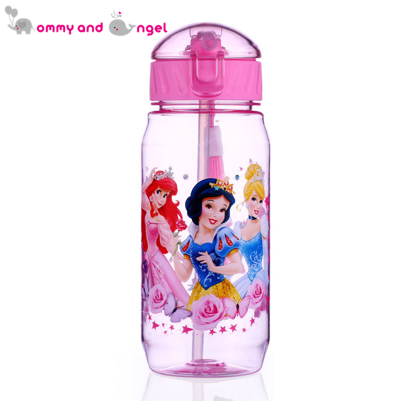 Mommy and Angel 450ml Disne Minnie/Mickey Mouse Kid Drinking Bottle Feeding Straw Child Cups Feeding Baby Bottles Water Bottle