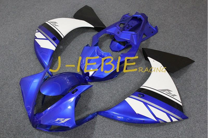 Blue white Injection Fairing Body Work Frame Kit for Yamaha YZF 1000 R1 2009 2010 2011
