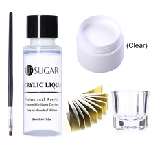 UR SUGAR Professional Acrylic Powder Crystal Nail Art Tip Builder Transparent Powder Manicure Pink White Clear Tool Sets