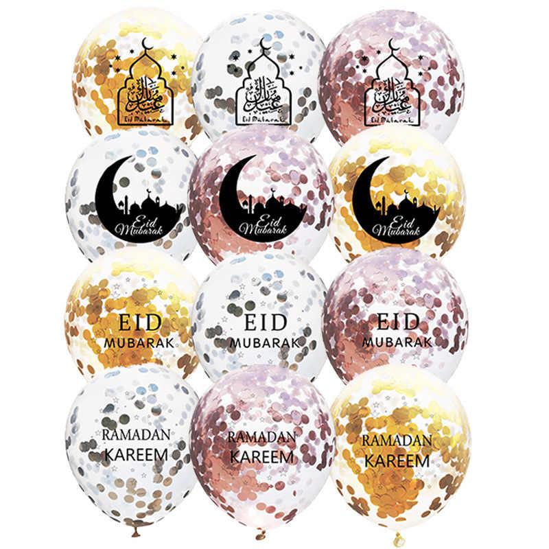 10 PS 12 inch EID MUBARAK Confetti Bóng Tháng Ramadan và EID Trang Trí cho Gia Đình Hồi Giáo Ramadan Mubarak Trang Trí Tiệc Cưới nguồn cung cấp