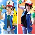 Japan Anime Cosplay Monster Ash Ketchum Trainer Costume Pokemon Go Pocket Shirt Jacket Gloves Hat Ball Halloween Party Wear