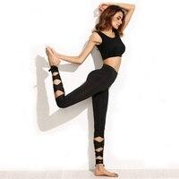 NoEnName Null Standard Design Women Yoga Pants Running Leggings With Elastic Fitness Slim Tights Spandex High
