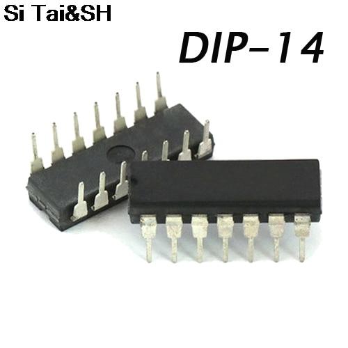 10PCS LM723CN DIP14 LM723  Regulator 2.0-37V Programable New Original Fast Delivery