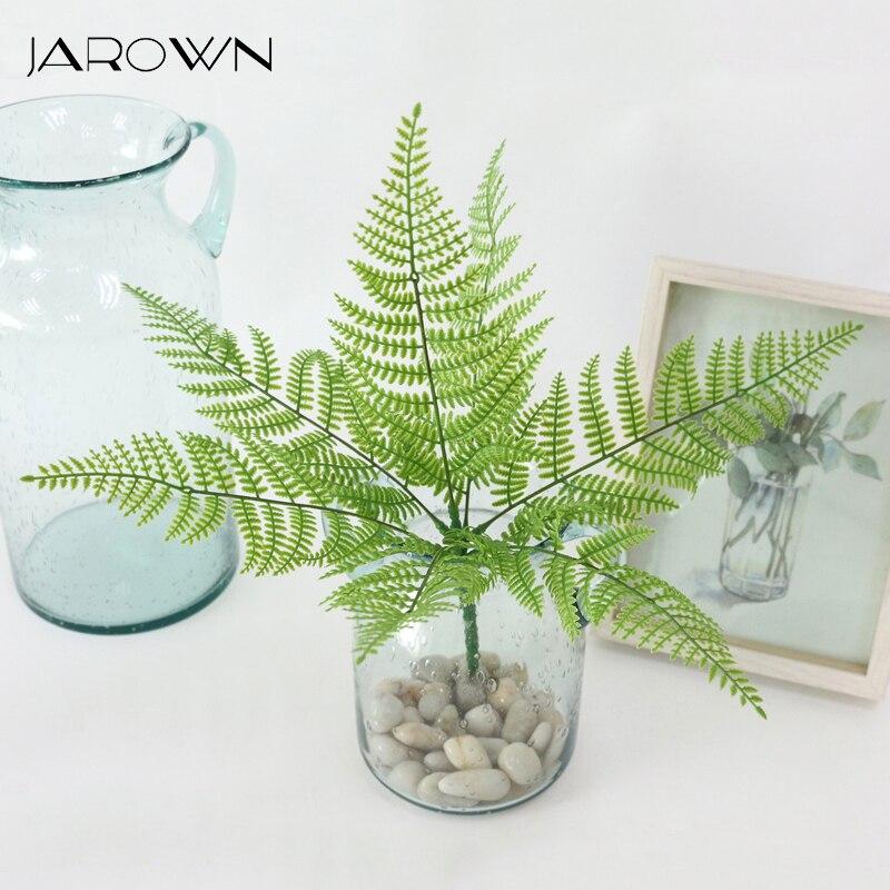 JAROWN Simulation Plant Flowers Plastic Green Leaves Grass Fern Grass DIY Turf Wall Decor Wedding Decoration Home Garden Decor