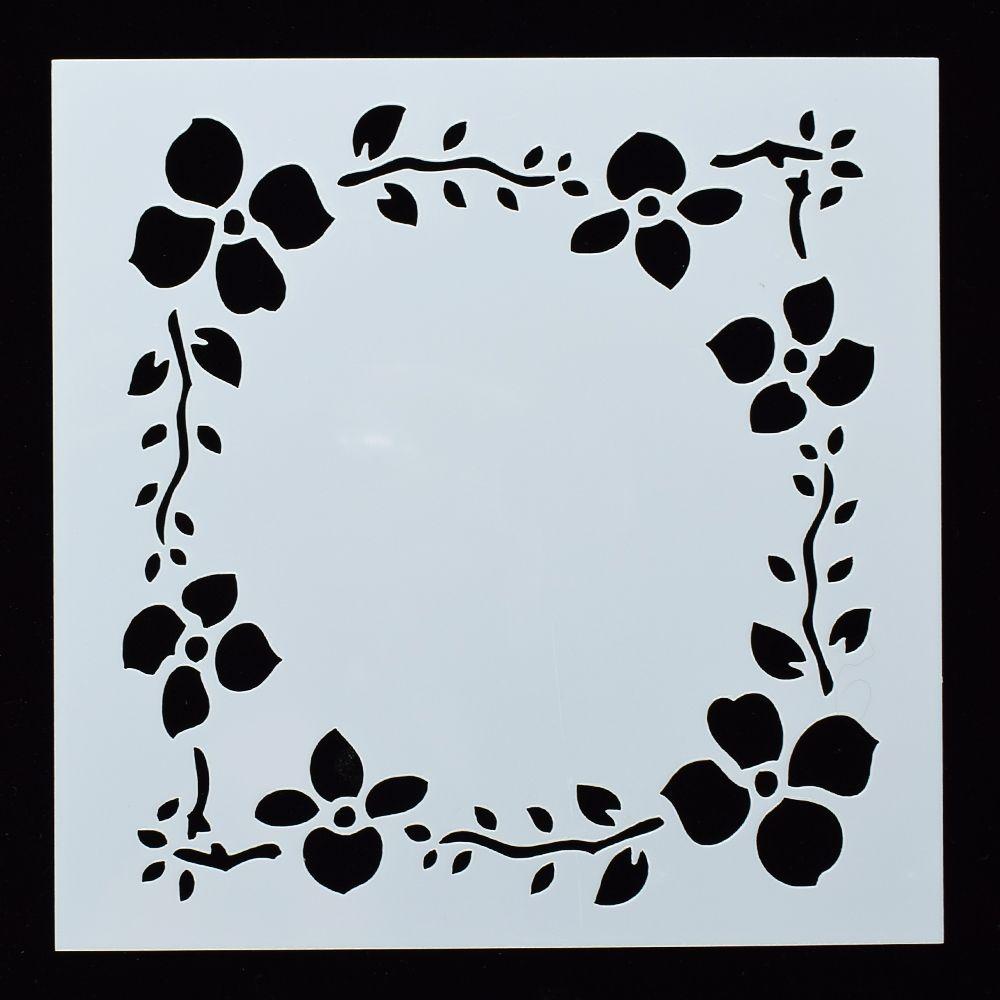 Craft Stencil Wreath Stencil Airbrush Wreath Stencil Card making