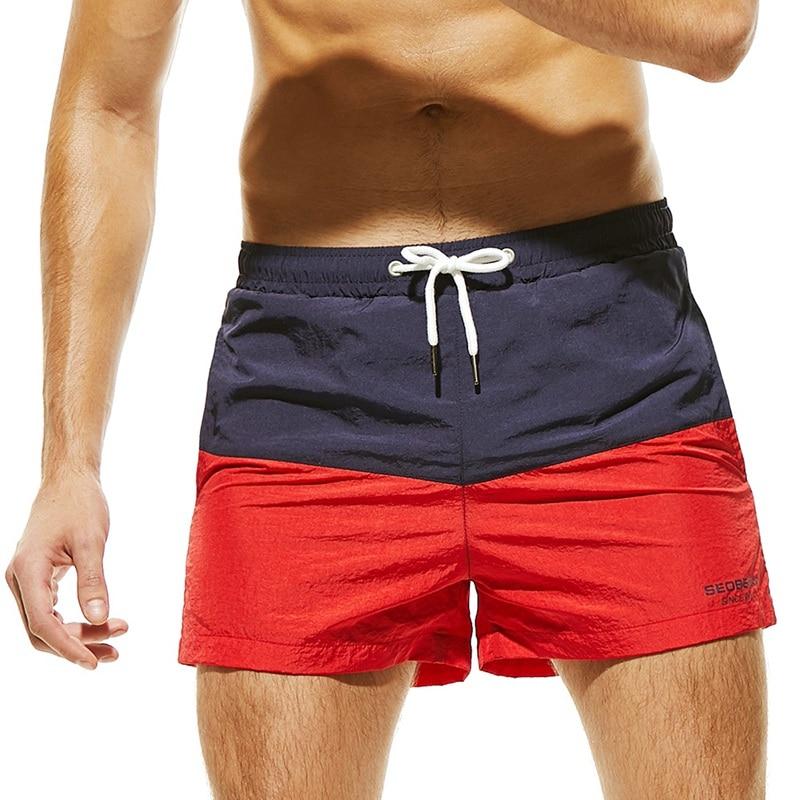 Swimwear Swim Shorts Trunks Beach Board Swimming Short Quick Drying Pants Swimsuits Mens Running Sports Surffing Shorts Homme