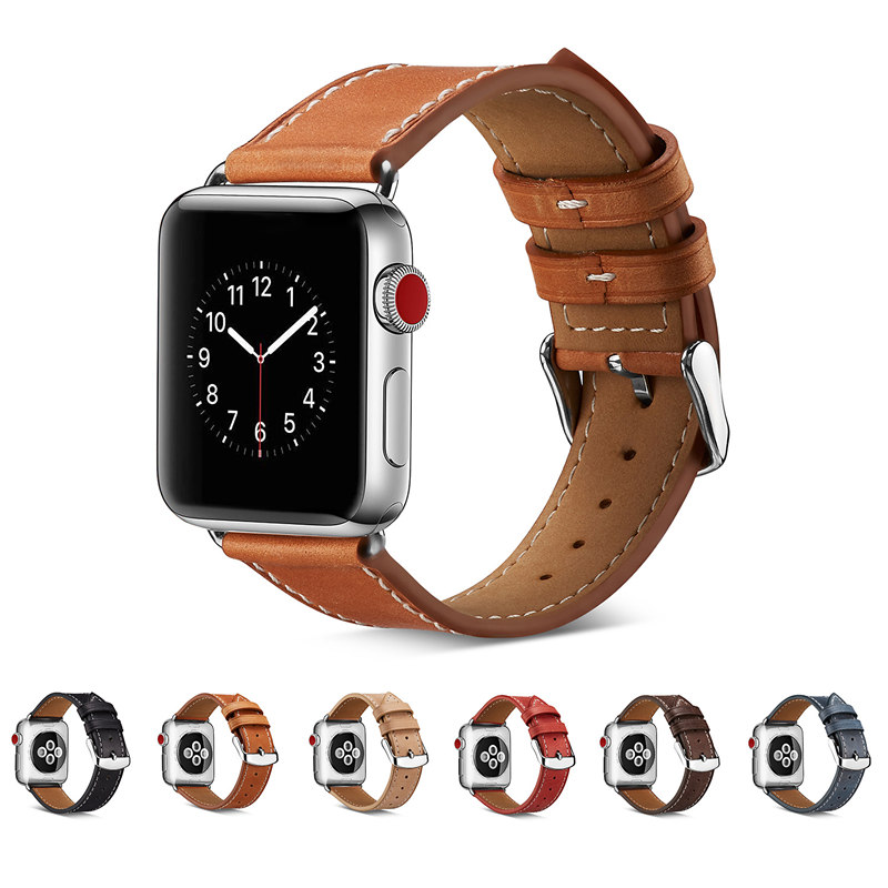 ASHEI For Apple Watch Band 42mm 38mm Genuine Leather iWatch Series 3 2 1 Watch Strap Watchband For Apple Watch 3 Bands Bracelet ashei watch replacement band for apple watch series 3 2 1 vintage genuine leather watchbands for iwatch strap sport and edition