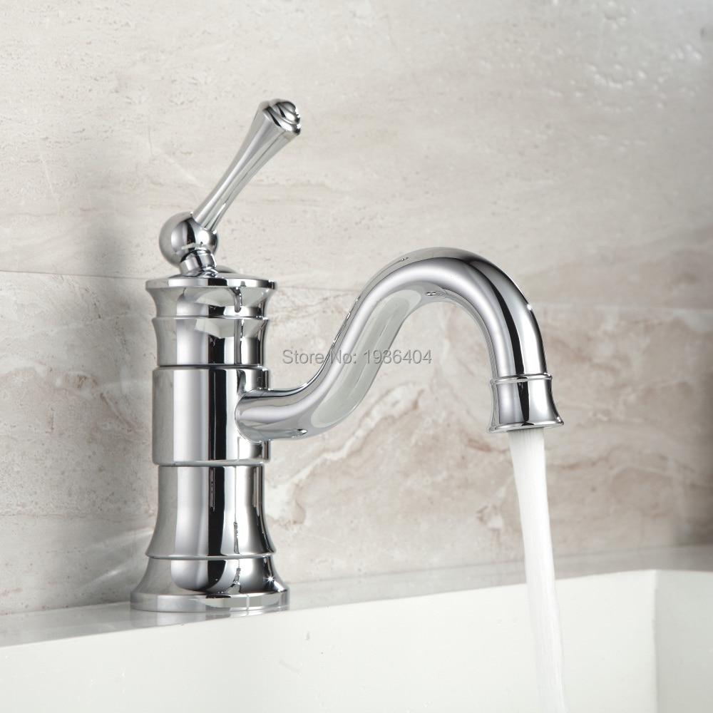 Basin Faucets Modern Bathroom Mixer Tap Brass Washbasin Faucet Single Handle Single Hole Elegant Crane For Bathroom 1180C комплектующие для раковин hangzhou elegant bathroom 88888