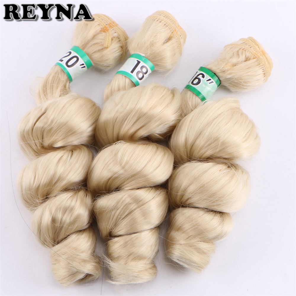 color #613 loose wave bundle 16 18 20 inches 3 piece one lot synthetic hair extension for women(China)