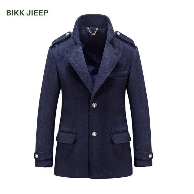 25af210341f1 Mens Wool Winter Coat Wool Jacket Men Smart Casual Mens Overcoat Mandarin  Collar Mens Cashmere Coat Male Pea Coats Wool Coat Men
