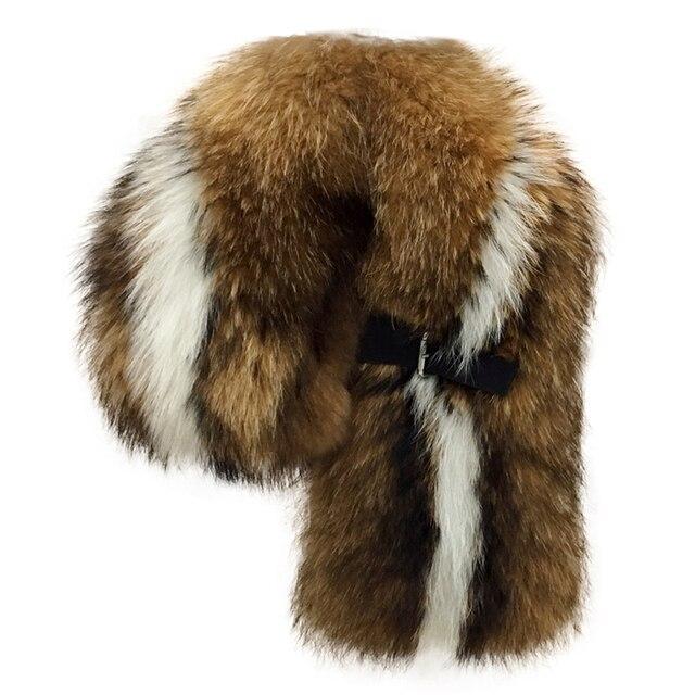 Luxury 100% Real Genuine Raccoon Fur Collar Scarf For Women Winter Vintage Elegant Cap Warm Genuine Fur Collar Scarves