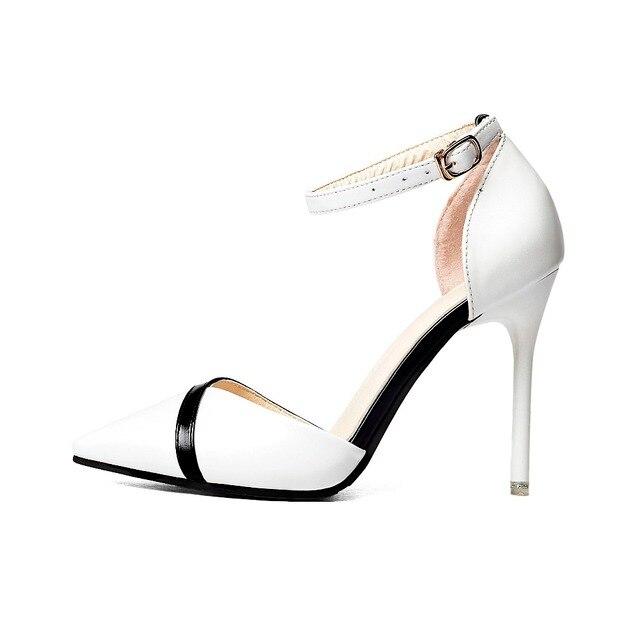 Star style femme femme femme mode noir blanc couturtalons aiguilles 348c01
