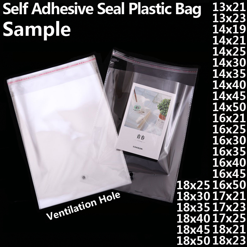 Transparent Self-adhesive OPP Poly Plastic Bags Clear Self Sealing Resealable Cello Cellophane Bag Small Toy Gift Packaging Bags
