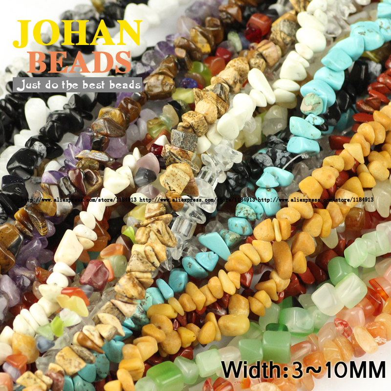 JHNBY Tiger eye Aventurine kaca Teratur Kerikil bead Batu Alam - Perhiasan fashion