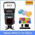 Meike mk-910 mk910 i-hss flash ttl speedlite para nikon como sb900 D750 D800 + 3 D750 Difusor para D7100 D800 D600 DSLR