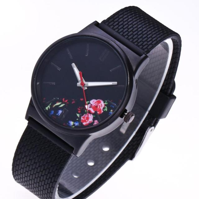 Black Flower Watch Women Watches Ladies 2019 Brand Luxury Famous Female Clock Quartz Watch Wrist Relogio Feminino Montre Femme