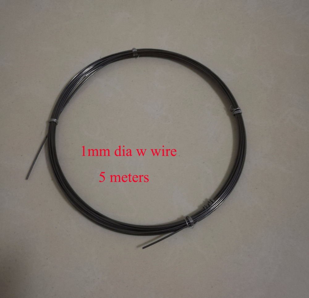 1mm Dia High Purity Industry Experiment DIY Tungsten Wire Vacuum Heating W Material about 5 meters