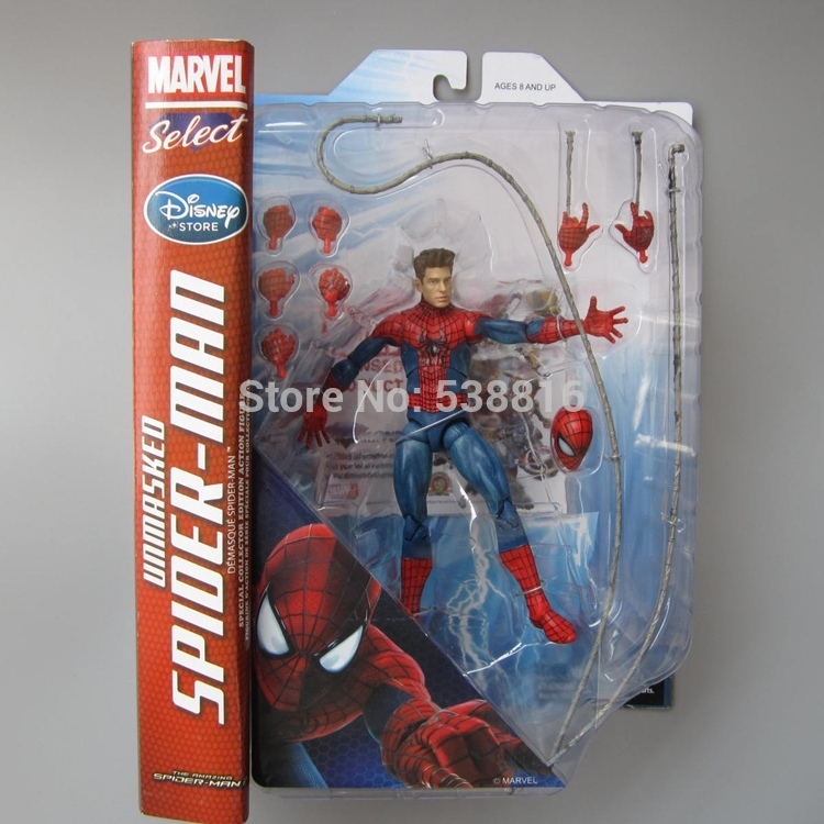ФОТО Marvel Select Amazing Spiderman Human Face Joint Movable PVC Action Figure Collectible Doll 7