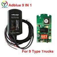 High Quality Adblue Emulation 9 In 1 Truck Ad-blue OBD2 Remove Tool 9in1 Adblue Emulator Support EURO 4&5 OBD Car Scanner