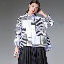 Осенняя Рубашка Блузки из хлопка женские 2020 размера плюс Офисные