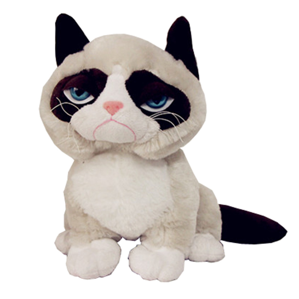 Grumpy Cat Cute Soft Stuffed Animal Plush Toy Doll Birthday Children Gift Limited Collection 25cm original rare big black super mario cute soft stuffed plush toy doll birthday gift children boy girl gift limited collection