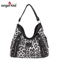 Angel Kiss Large Tote Handbags Business Shoulder Bags Women Top Handle Bags Female Women PU Leather Crossbody Bag bolsos mujer