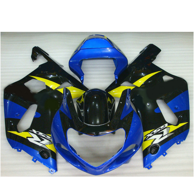 ABS plastic Injection fairing for SUZUKI 2002 2003 GSX R600 2001 GSXR 750 K1 blue yellow GSXR600 01 02 03 GSXR750 fairings parts кольца