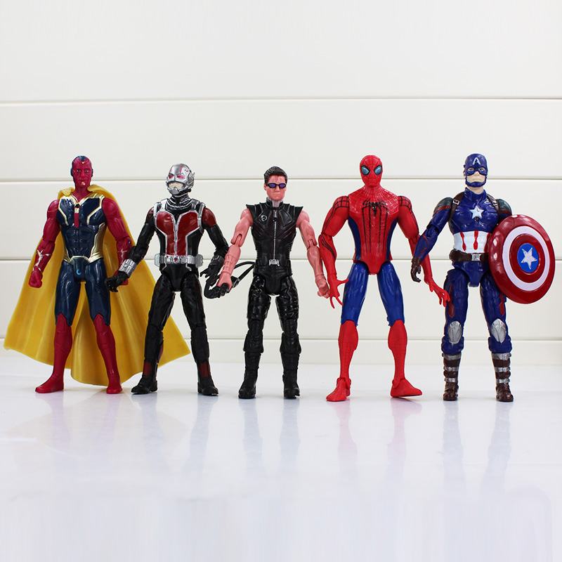 10Pcs Lot Captain America Civil War Avengers Iron Man Ant Hawkeye Spiderman Figure Toy PVC Action Figures Gift E In From Toys