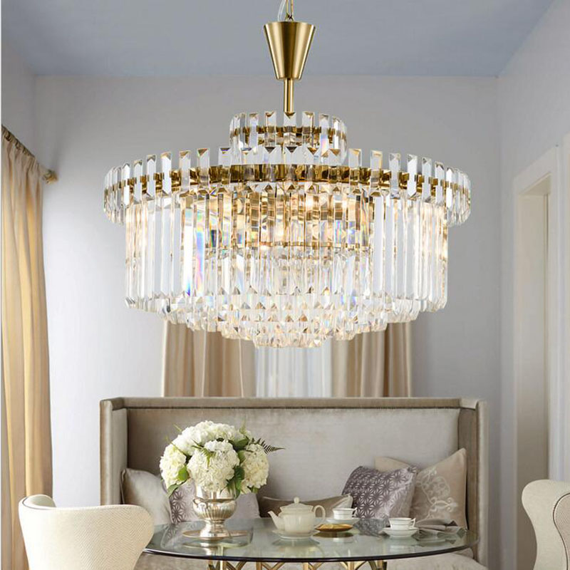 Modern minimalist crystal lamp neoclassical fashion personality creative bedroom dining room living room American designer lamps k9 crystal floor lamps stand lamp luxury modern minimalist living room crystal lamp bedside bedroom floor lamps crystal lights