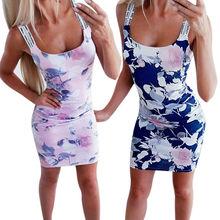 Women Sexy Bodycon Sleeveless Dress Evening Party Club Mini Sundress S-XL