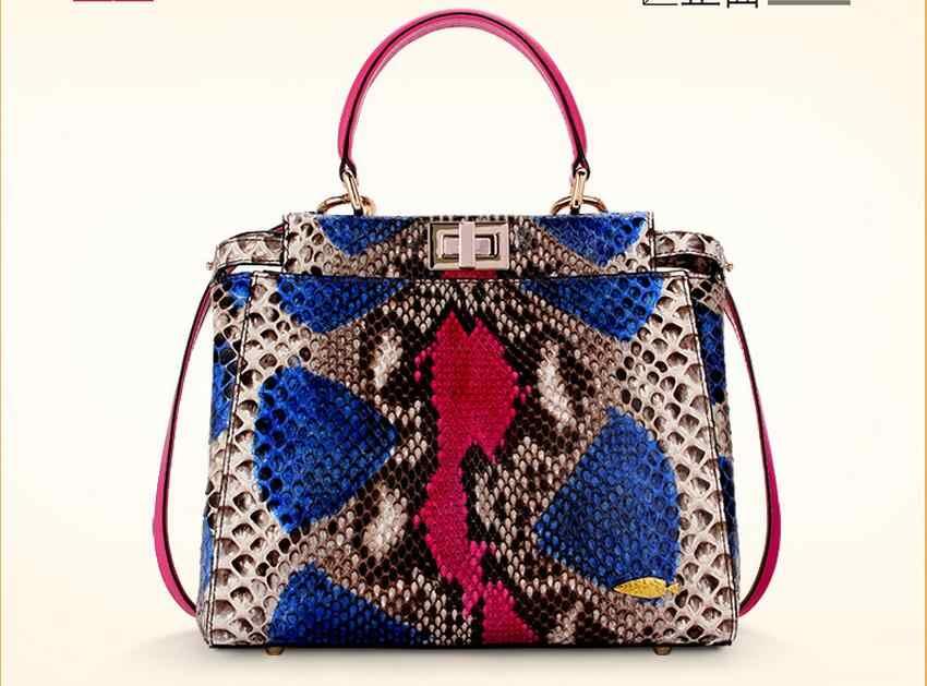 2f4842100fea0 Detail Feedback Questions about 100% Genuine Python Snake Skin Bag Lady women  Designer Handbag