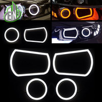 Car Styling LED Headlight Angel Eyes Parts For KIA K5 2012 2014 Korean LED angel eyes suite LED Lamp Accessories