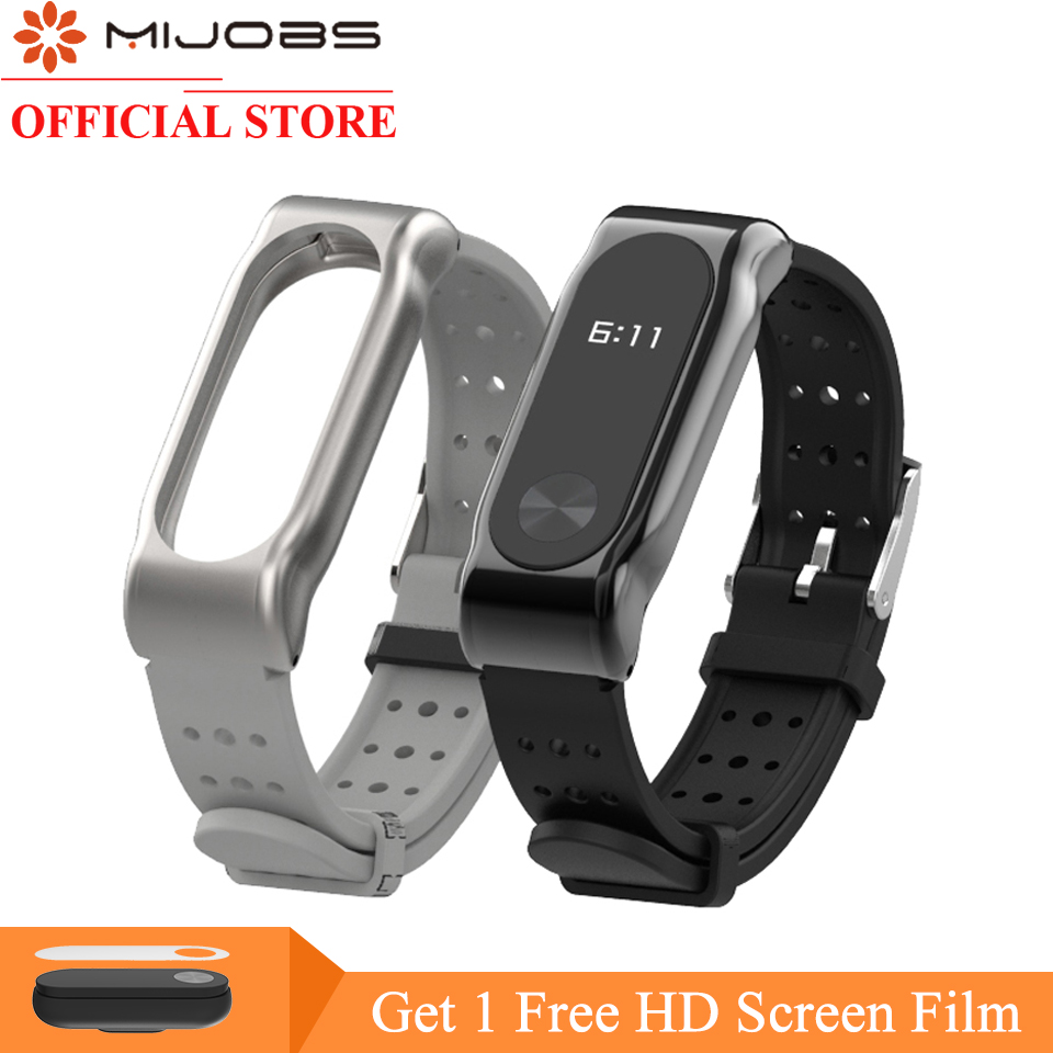 Mijobs For Xiaomi Mi Band 2 Strap Replacing Smart Watch Accessories For Mi band 2 Bracelet Colorful Strap Miband 2 Silicone