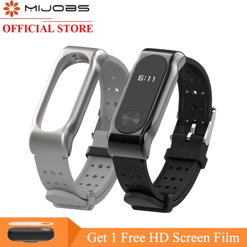 Mijobs Per Xiaomi Mi Band 2 Cinghia Sostituzione Intelligente Orologio accessori Per Mi band 2 Braccialetto Cinturino Colorato Miband 2 Silicone
