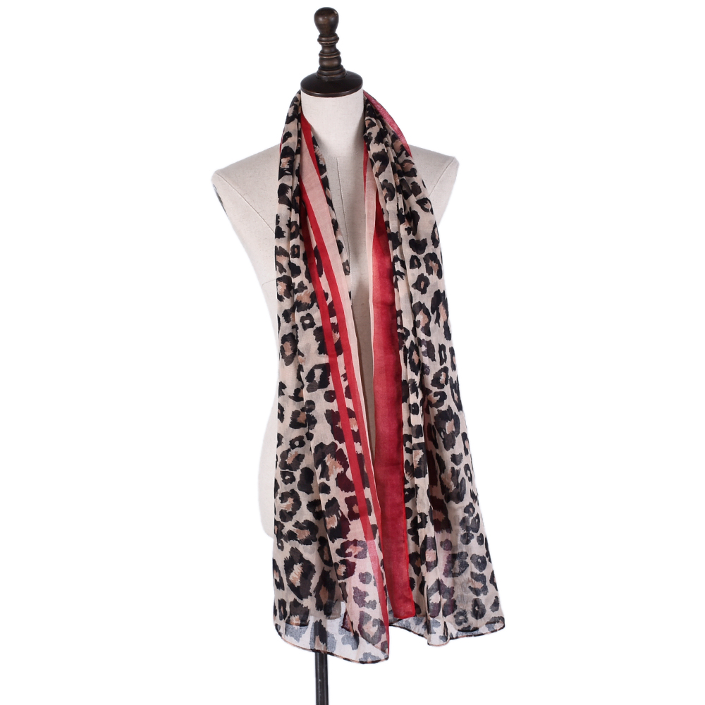 Black Leopard red lace Animal Print long Scarf Scarves Shawl Wrap Soft  Lightweight for Women s Gift Accessories be4062697