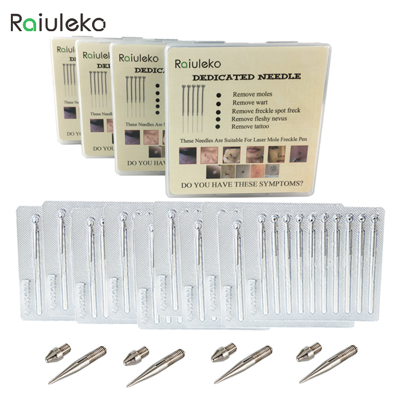 400+8 PCS=4 Box Laser Freckle Removal Skin Mole Removal Dark Spot Remover Thin/Coarse Dedicated needle for Face Wart Tag Tattoo laser freckle removal machine skin mole removal dark spot remover for face wart tag tattoo removal pen salon home beauty care