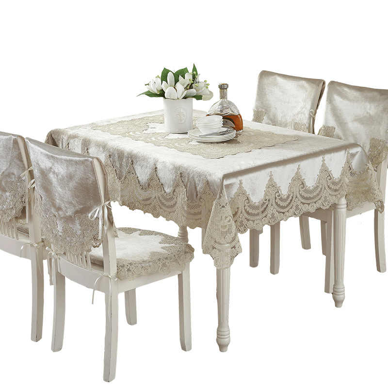 1eb0eca0afb Europe Style Luxury Comfort Tablecloth Lace Edge Dustproof Covers For Table  Chair Cover Home Party Table
