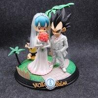 Anime Dragon Ball Z Vegeta & Bulma Wedding Day Figure Model Toys