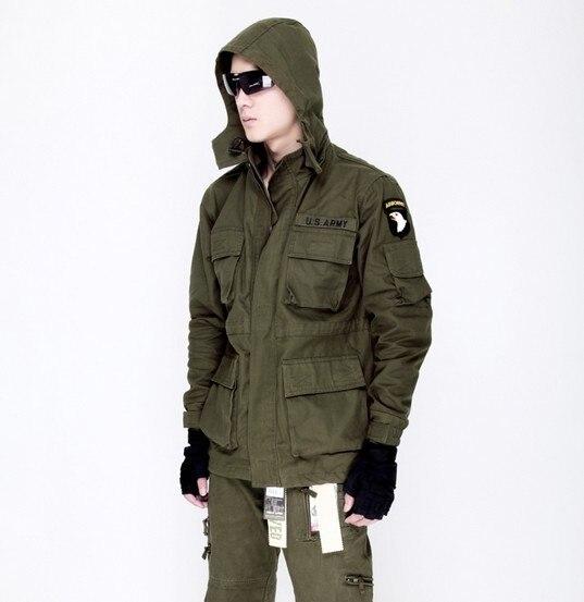 ФОТО Outdoor clothing US 101 Army jacket windbreaker jacket cotton hawk Hooded Coat