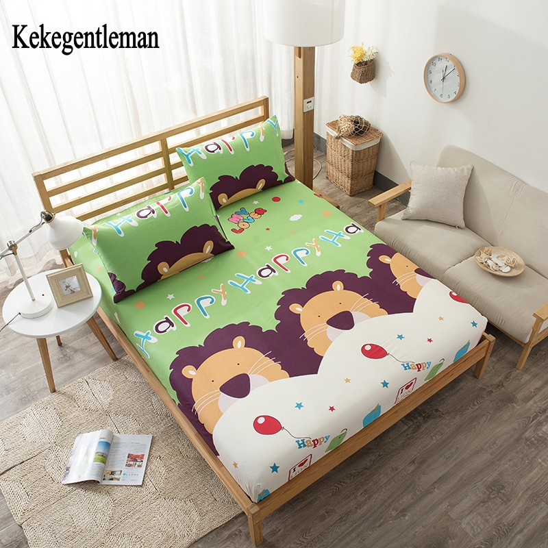 kekegentleman 100 cotton chindren bed sheets dandelion printed fitted sheet twin full queen. Black Bedroom Furniture Sets. Home Design Ideas