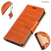JCOVRNI For100% leather crocodile pattern retro phone wallet leather case for iPhone 6 6s 7 plus for galaxy S8 note8 phone case