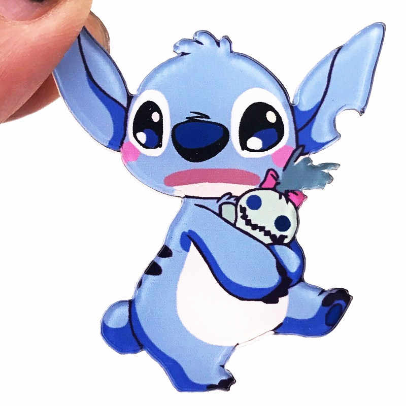 1Pcs Cartoon Stitch Alien Cute Pins and Brooches for Women Men Lapel Pin Backpack Bags Badges Kids Gifts Toys