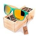 BOBOBIRD 2017 Модные Солнцезащитные очки Для Женщин Ручной Работы Красочные Поляризованные Линзы Бамбука Ноги мужские Солнцезащитные Очки óculos С Коробкой