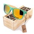 BOBOBIRD 2017 Moda Unissex óculos de Sol Para As Mulheres Coloridos Feitos À Mão Bambu Pernas Óculos de Sol dos homens Lente Polarizada oculos Com Caixa