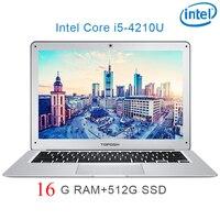 """מחברת מחשב נייד P7-11 16G RAM 512G SSD i5 4210U 14"""" Untral-דק מחשב שולחני מחשב נייד מחברת Gaming (1)"""