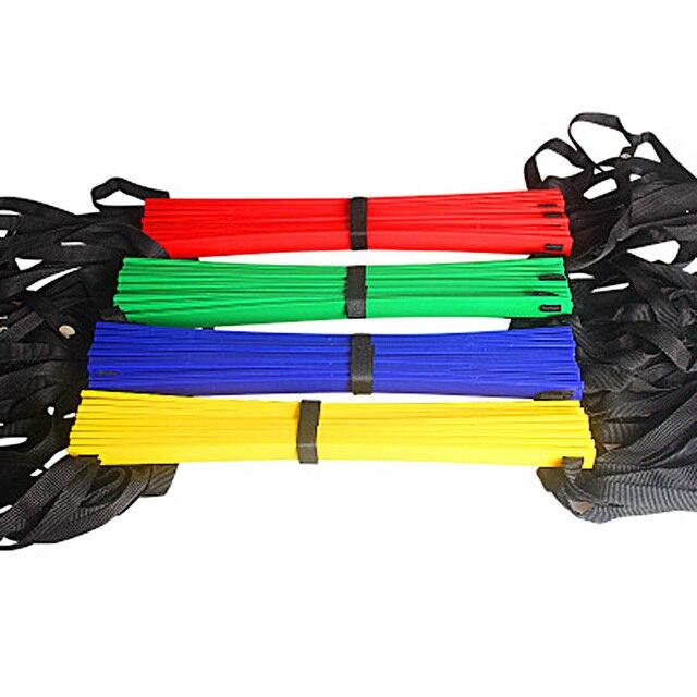 Высокое качество Спорт на открытом воздухе 5 м 9 Рунг ловкость лестница для Футбол Скорость Carry Bag Обучение Оборудование 4 вида цветов