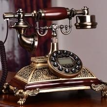 Модный античный телефон Американский винтажный домашний телефон старомодный приталенный/повторный/Hands-free/версия с задней подсветкой идентификатор звонящего