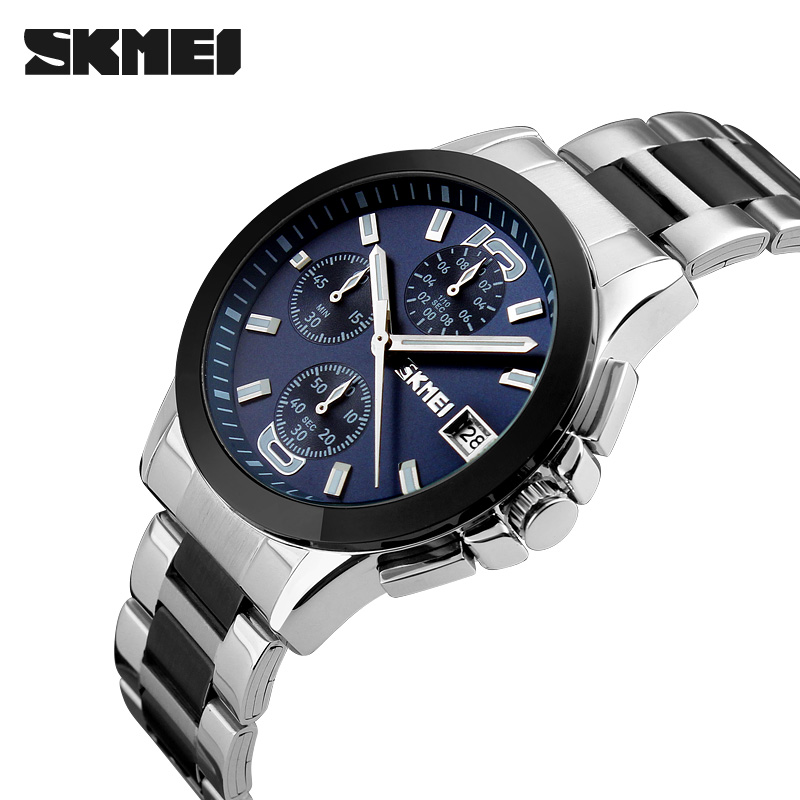 Mens Quartz Watches Fashion Top Brand Luxury SKMEI Men casual Sport Wristwatch Chronograph Man Dress Watches Relogio Masculino все цены