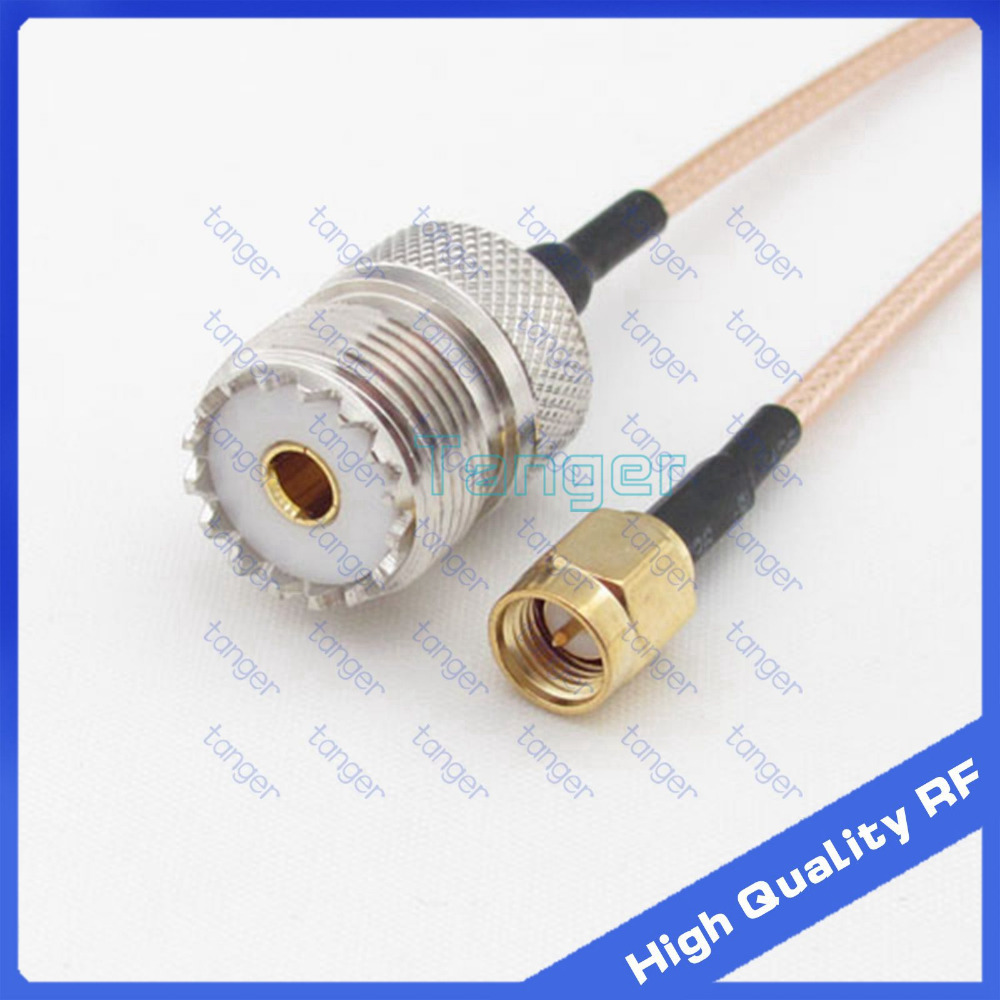 Tanger SO239 UHF female jack to SMA male plug straight connector jack with 20cm 8 RG316 RF Coaxial Pigtail High Quality cableTanger SO239 UHF female jack to SMA male plug straight connector jack with 20cm 8 RG316 RF Coaxial Pigtail High Quality cable